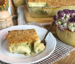 Sformato di cavolfiore e patate, gratinato in forno
