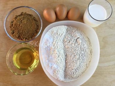 ingredienti torta con farina di castagne