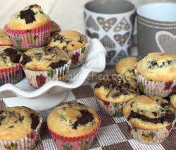 Muffin marmorizzati variegati al cacao. Ricetta facile