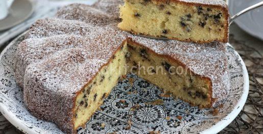 torta al mascarpone e gocce di cioccolato