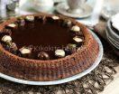 Torta lindt con base morbida e ganache al cioccolato