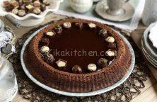 torta con ganache al cioccolato fondente
