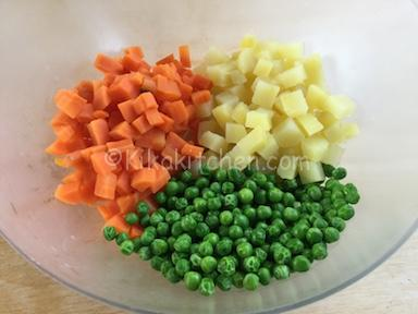 carote patate e piselli