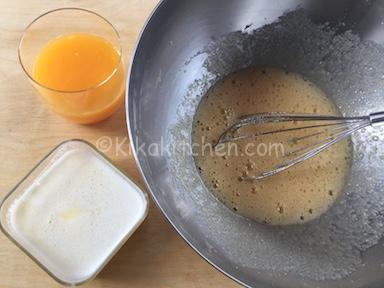dolci con succo d'arancia