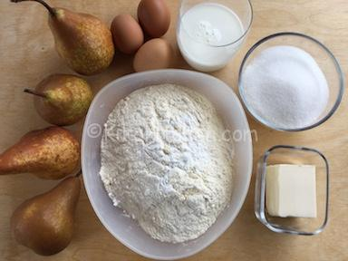 ingredienti torta di pere