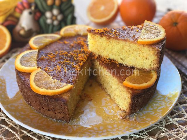 Pan d arancia. Torta soffice con arancia intera frullata