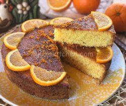 Pan d'arancia. Torta soffice con arancia intera frullata