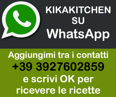 Ricevi le ricette su Whatsapp