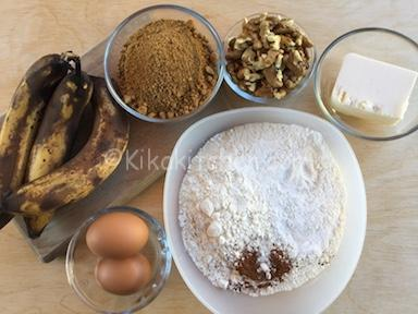 ingredienti banana bread