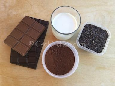 ingredienti tartufi al cioccolato
