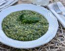 Risotto agli spinaci con parmigiano semplice e cremoso