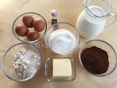 ingredienti torta magica al cacao