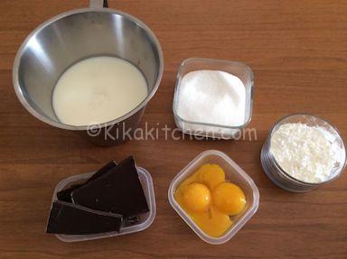 ingredienti crema diplomatica al cioccolato