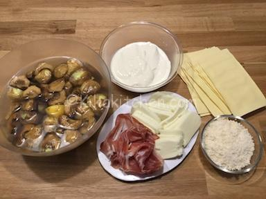ingredienti lasagne ai carciofi