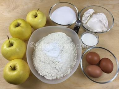 ingredienti torta di mele e mascarpone