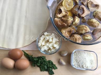ingredienti torta salata con carciofi