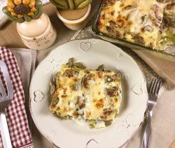 Lasagne ai carciofi con speck e besciamella