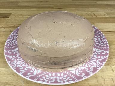 torta coperta di crema