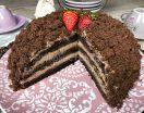 Torta mimosa al cioccolato con crema diplomatica