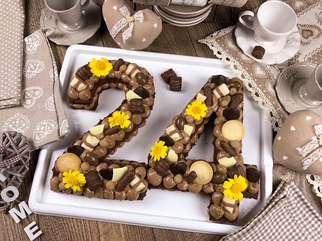 cream tart con pasta biscotto al cacao
