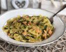 Pasta salmone e zucchine. Primo piatto facile