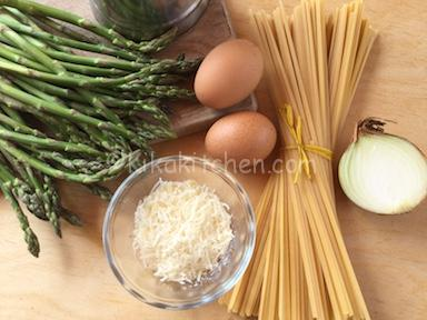 ingredienti carbonara di asparagi