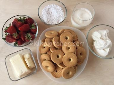 ingredienti torta fredda fragole e mascarpone