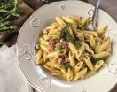 Pasta asparagi e pancetta. Ricetta facile e veloce