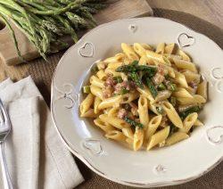 pasta pancetta e asparagi