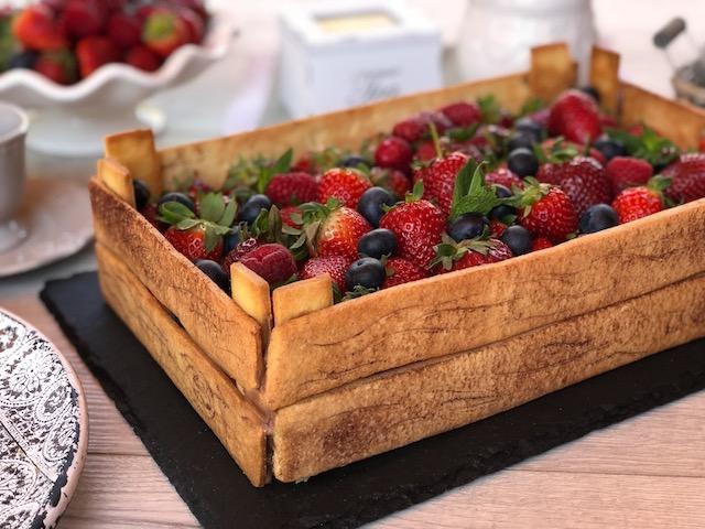 torta cassetta di frutta