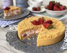 Torta fredda con mascarpone panna e fragole