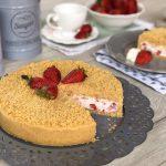 torta fredda fragole e mascarpone