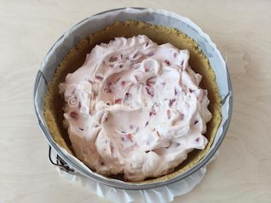 torta senza cottura con fragole