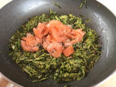 zucchine e salmone