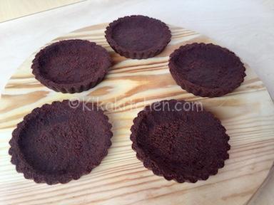 crostatine al cacao senza forno