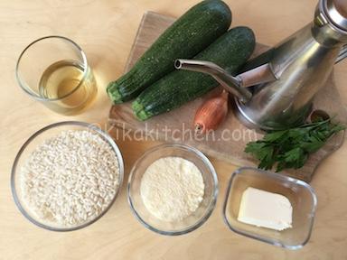 ingredienti risotto con zucchine