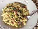 Pasta zucchine e pancetta affumicata