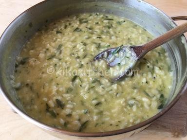 risotto cremoso con zucchine
