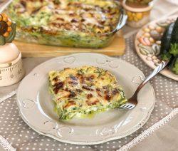 Lasagne con zucchine e mozzarella