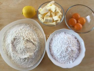 ingredienti pasta sablè