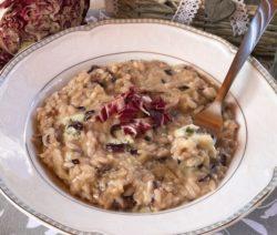 risotto gorgonzola e radicchio