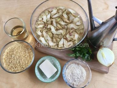 ingredienti risotto ai carciofi